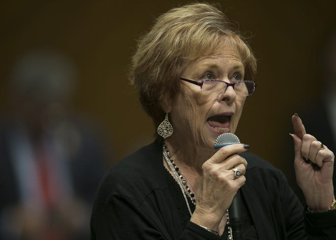 Sen. Sylvia Allen, R-Snowflake, speaks in the Senate at the Arizona State Capitol in Phoenix on Monday, May 27, 2019.