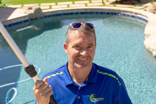 Chad Nikkel has made pool water chemistry a driving force behind his company, Aquaman Pools.