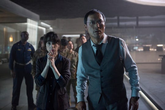 "In ""Godzilla: King of the Monsters,"" Dr. Graham (Sally Hawkins) and Dr. Serizawa (Ken Watanabe) face a fantastic creature."