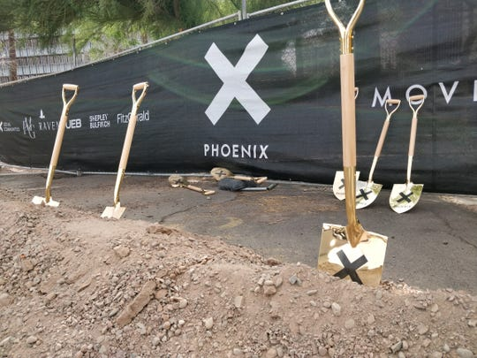 City officials and project executives broke ground on the 20-story, 253-unit co-housing development, dubbed X-Phoenix, on May 16, 2019.
