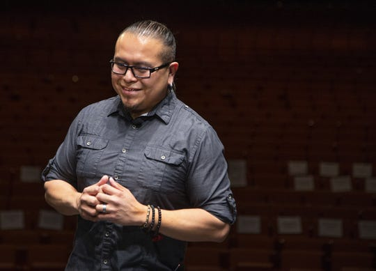 Fashion designer Loren Aragon (Acoma Pueblo) was at ASU Gammage on May 24, 2019, to unveil a couture gown he created for the Tony Awards