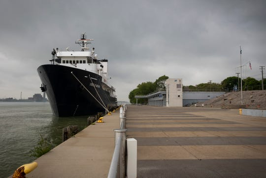 The Great Lakes Maritime Academy TS State of Michigan is seen docked at the Bean Docks Tuesday, May 28, 2019 in Port Huron. The ship, formerly named Persistent, was used by the U.S. Navy for submarine surveillance before it was transferred to the U.S. Coast Guard in 1997, where it was used for drug enforcement in the Caribbean. In the summer of 2001, the ship went to the United States Maritime Administration under the U.S. Department of Transportation, which still owns it.