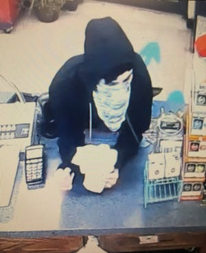 Police are searching for a man who they say robbed a Uni-Mart in Fairview Township on Monday, May 27. Photo courtesy of Fairview Township Police.