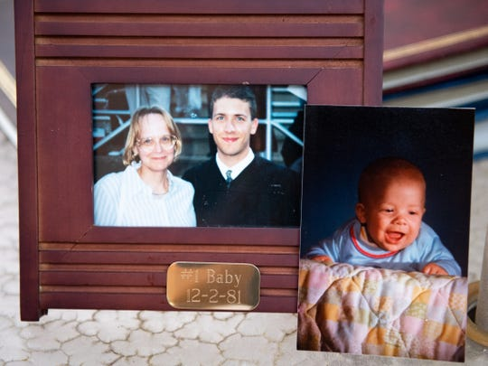 The first baby Martha Thomas ever delivered in private practice was James Smeltzer. She still stays in touch with him, and in the photo at left, watched him graduate from high school. He's now 37.