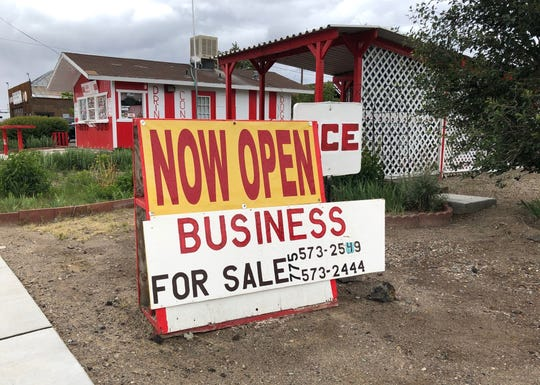 Socorro's Burger Hut of Mina, a landmark on wind-swept U.S. 95 between Reno and Las Vegas, is on the market. Owner Socorro Streight is 74.