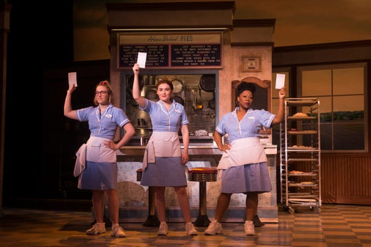 Ephie Aardema, Christine Dwyer and Melody A. Betts in 'Waitress.'
