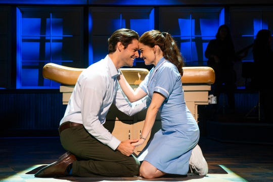 Steven Good and Christine Dwyer in 'Waitress.'