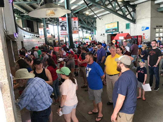 Frontier Field sold more than 11,000 hot dogs for their 50-cent hot dog promotion at the Rochester Red Wings game on Memorial Day, May 27, 2019.