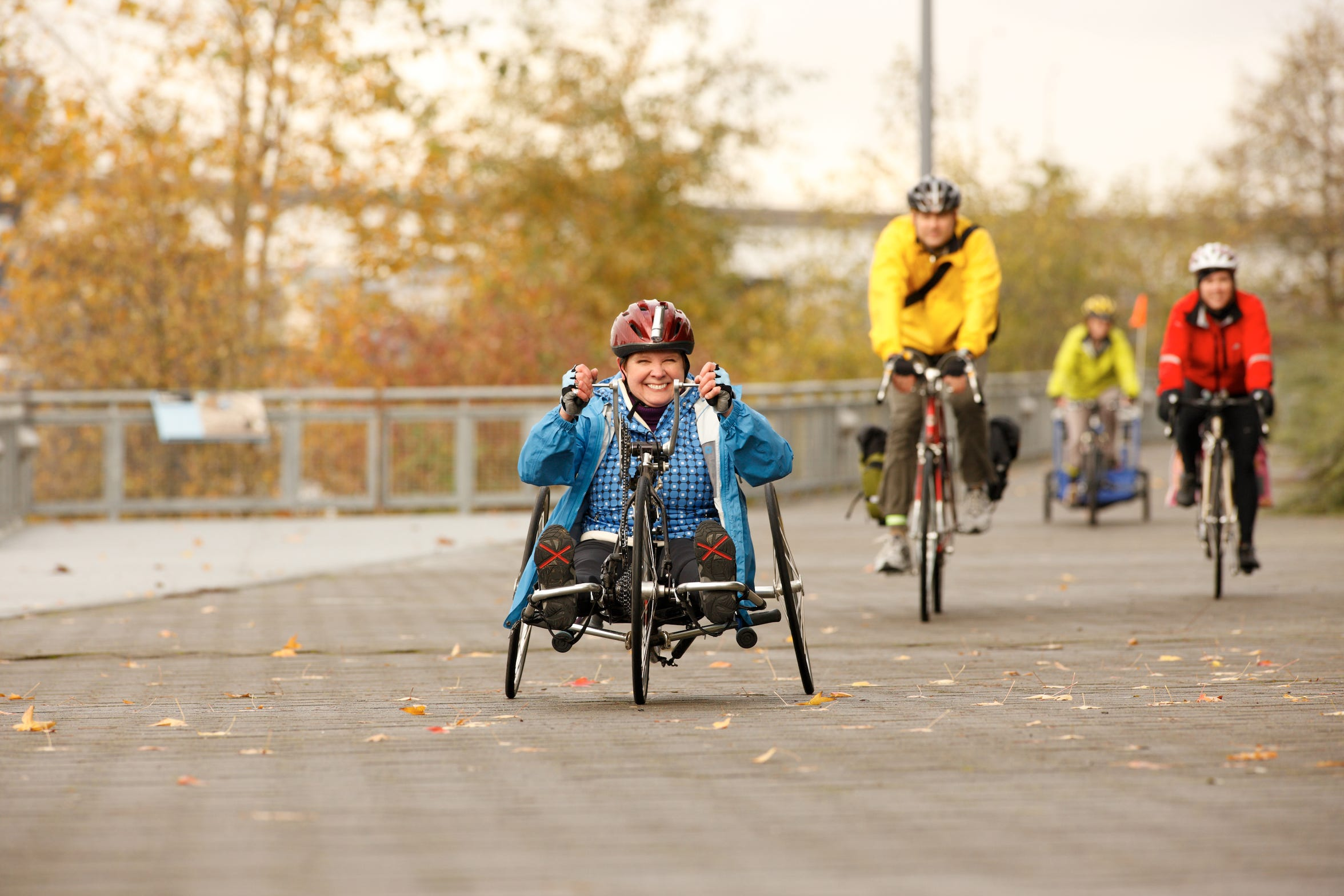 Biking can be a good way for people of all ages to get moving. Remember to always wear a helmet before pedaling away.