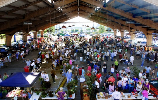 The Farmer's Market under the East Pavilion in Festival Plaza.
