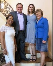 Dr. Debbie Chandler, assistant dean for Diversity Affairs at LSU Health Shreveport, state Sen. Ryan Gatti and wife Susan Gatti and Dr. Sharon Dunn, associate Dean School of Allied Health Professions and incoming dean on June 1.