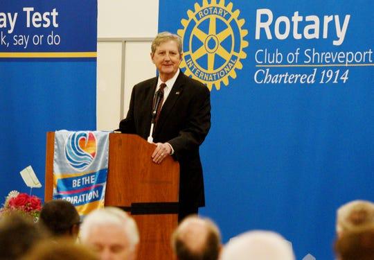 U.S. Senator John Kennedy addresses the Rotary Club of Shreveport at the Shreveport Convention Center, Tuesday 28, 2019.