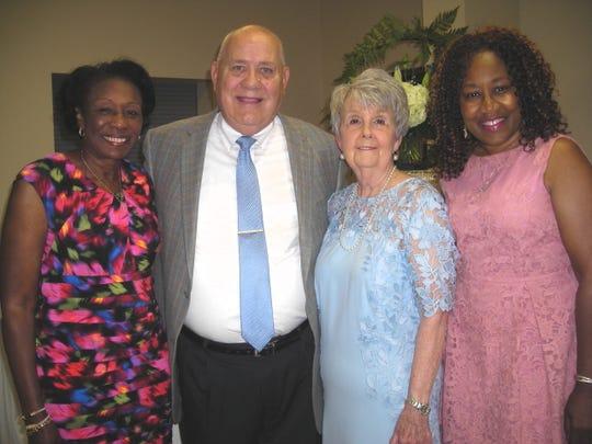 Former Shreveport Mayor Ollie Tyler, Shreveport City Councilman James Flurry and wife Pat and Barbara Bennett at the Flurrys' 50th anniversary celebration.