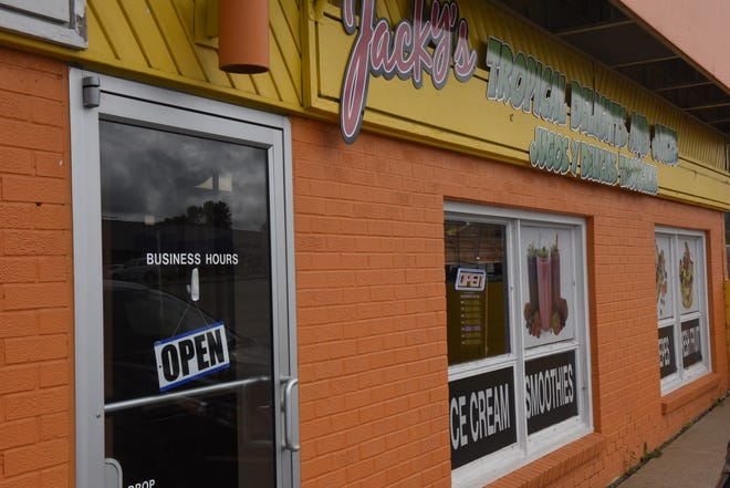 The owners of Jacky's Tropical Delights and Juice are looking forward to serving cold treats when the summer weather hits.