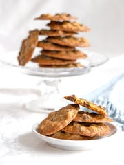 Thin and Crispy Chocolate Chip Cookies are a treat.
