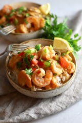 This recipe for creamy shrimp creole adds sour cream and mushrooms.
