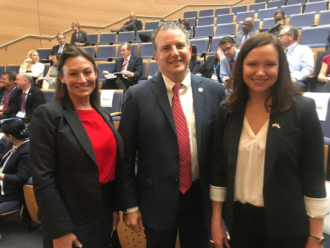 Members of the Florida Cabinet- Agricultural Commissioner Nikki Fried, CFO Jimmy Patronis and Attorney General Ashley Moody at Tel Aviv University.