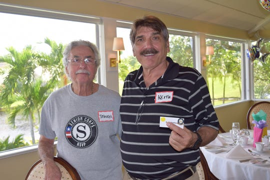Steve Robkin, left, and Keith Quintavalle at the United Way of Martin County RSVP Volunteer Appreciation Luncheon.