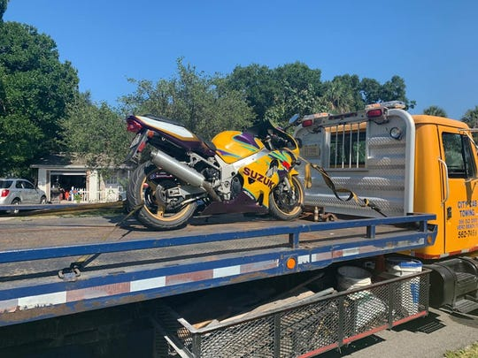 Landon's motorcycle was found in his garage and impounded.