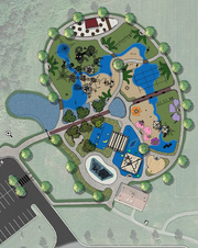 A design for JoJo's Jungle shows what the all-inclusive playground would look like once construction is finished this fall.