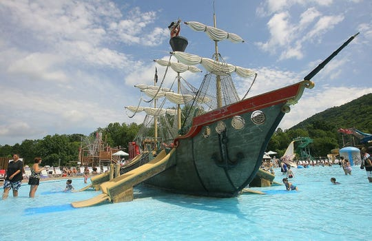 A pirate ship at The Land of Make Believe.
