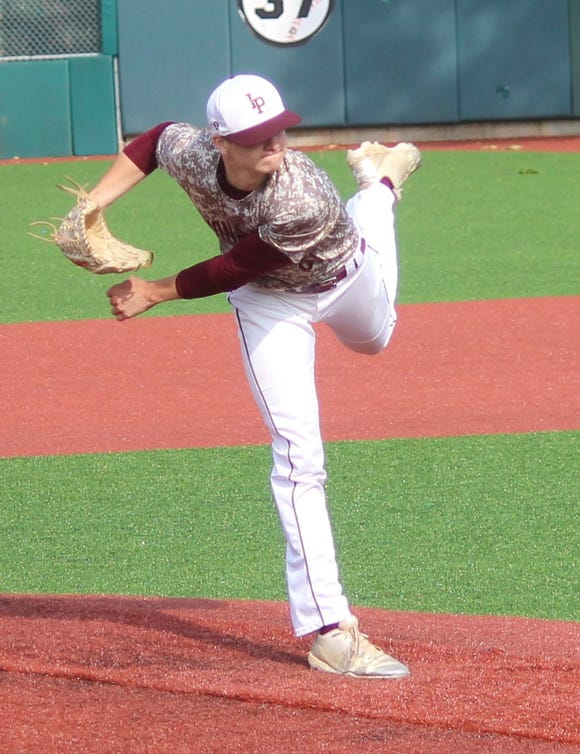 Iona Prep's Jack Keenan pitched a complete game as his team beat Archbishop Molloy 5-2 in a CHSAA playoff game at St. John's University on May 28, 2019.