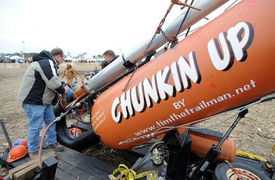 The Chunkin Up team was one of 20 entrants in the adult-crewed air cannon category, which drew the most contestants at the 2012 World Championship Punkin Chunkin near Bridgeville.