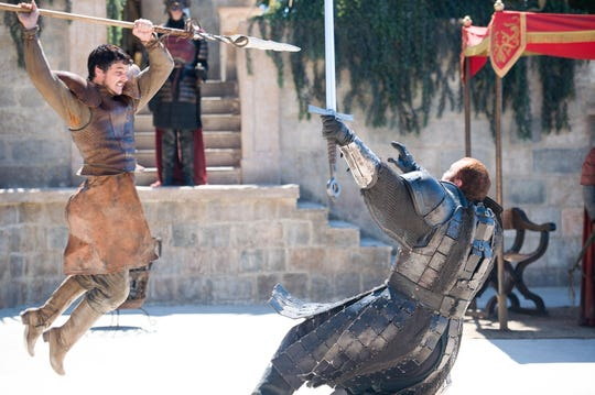 Pedro Pascal's character, Dornish prince Oberyn Martell, left, only appeared in seven episodes during the fourth season, but he made the most of his screen time leading up to the memorable trial-by-combat scene where he fought Ser Gregor Clegane (aka The Mountain) in hopes of acquitting Tyrion Lannister for the murder of King Joffrey.  And Oberyn almost had it. The lesson: No showing off until you're sure your opponent is dead. Like dead-dead.