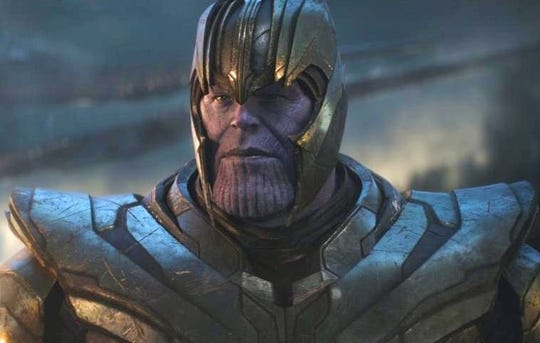 "Josh Brolin's bad guy wore the war helmet in ""Avengers: Endgame."""