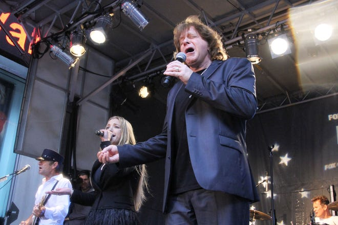 Eddie Money and daughter Jesse Money perform in New York City.