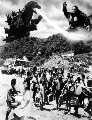 """""""Godzilla vs. Kong"""" will arrive in 2020, but the first epic clash of the titans came in 1962, when the thunder lizard battled the iconic Hollywood simian in """"King Kong vs. Godzilla."""""""