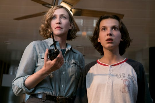 "The relationship between Emma Russell (Vera Farmiga, left) and daughter Madison (Millie Bobby Brown) is at the heart of ""Godzilla: King of the Monsters."""
