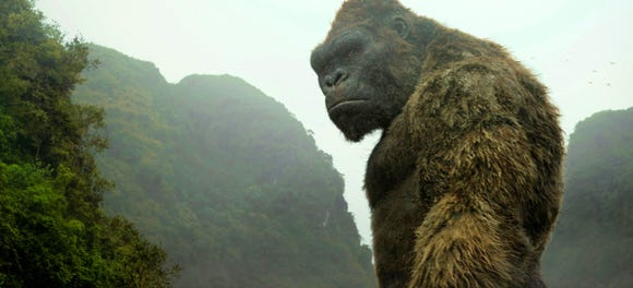 "Next up for Godzilla: a matchup against the great ape King Kong, last seen here in 2017's ""Kong: Skull Island."""