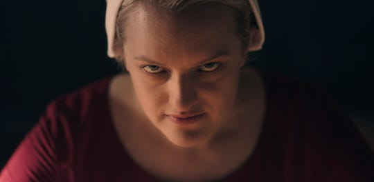 "Elisabeth Moss in Season 3 of ""The Handmaid's Tale."""