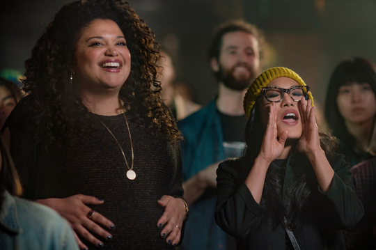 "In ""Always Be My Maybe,"" Veronica (Michelle Buteau) and Sasha (Ali Wong) see Marcus' band. In real life, Wong did go see Randall Park play in the band he had while he was pursuing acting."
