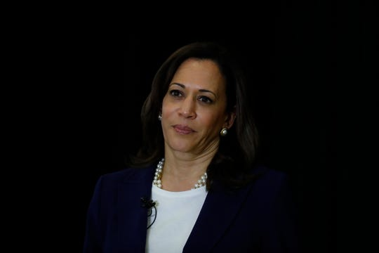 Democratic presidential Candidate Sen. Kamala Harris, D-Calif., speaks during a town hall for the American Federation of Teachers in Detroit, Monday, May 6, 2019.