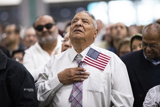 Naturalization ceremony in El Paso, Texas, on April 18, 2019.