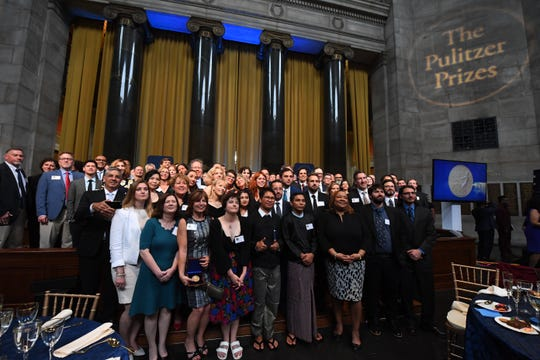 All the winners at the 2019 Pulitzer Prize Awards Ceremony at Columbia University.