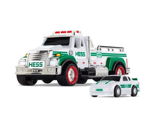 The 2019 Hess mini truck and race car.