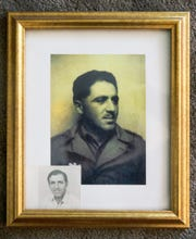 Photo of Mario Sorrentino when he was serving in the army as an engineer.