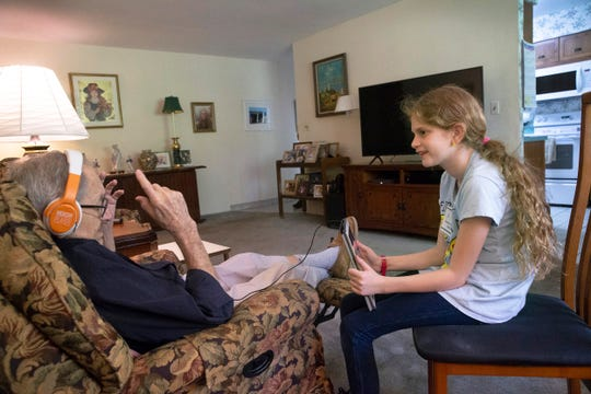 Brick resident Mario Sorrentino was a World War II veteran with dementia. Nine-year-old Kenley Chambers visited him once a month and brings him 1930s and '40s music to help with his memory.