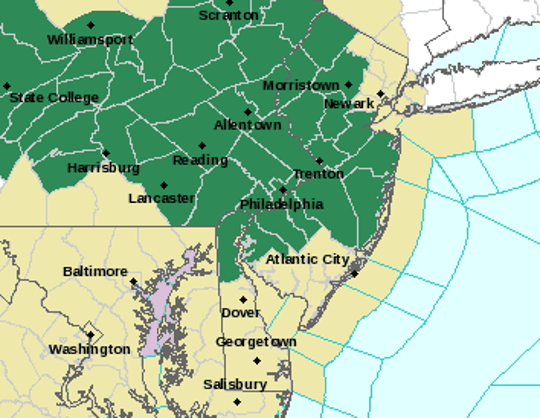 The green sections of map will be under a flash flood watch as of 4 p.m. May 29, 2019. The entire state is under a hazardous weather outlook.