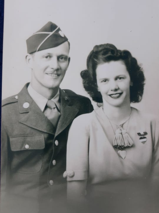 Evelyn Zlock with her husband, George.
