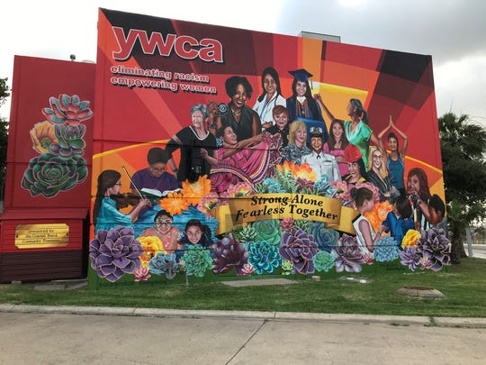 Sandra Gonzalez and Monica Marie Garcia unveiled a mural at the YWCA on Corona Drive on Tuesday, May 28, 2019. It took seven months to complete the mural which features 21 different women and professions.