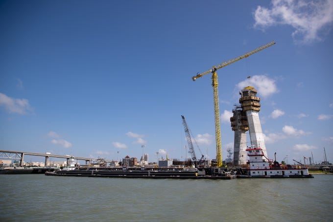 The north side of the new Harbor Bridge project along the canal of the Port of Corpus Christi on Tuesday, May 28, 2019.
