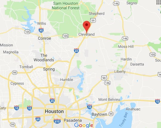 The shooting on May 29, 2019, happened near Cleveland in Liberty County, Texas, about 50 miles north of Houston