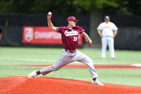 Fordham pitcher John Stankiewicz, a Cherry Hill West graduate, delivers against Virginia Commonwealth during the Atlantic 10 Tournament earlier this month.
