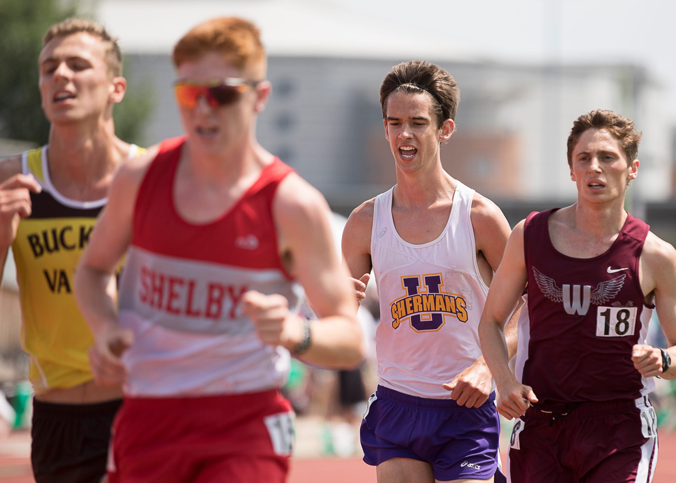Unioto's Tucker Markko took fifth with a time of 9:37.63 in the 3,200 meter run during the 2018 Division II state finals at Jesse Owens Memorial Stadium in Columbus.