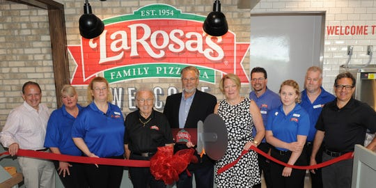 The ribbon cutting at the new LaRosa's  location in Milford.