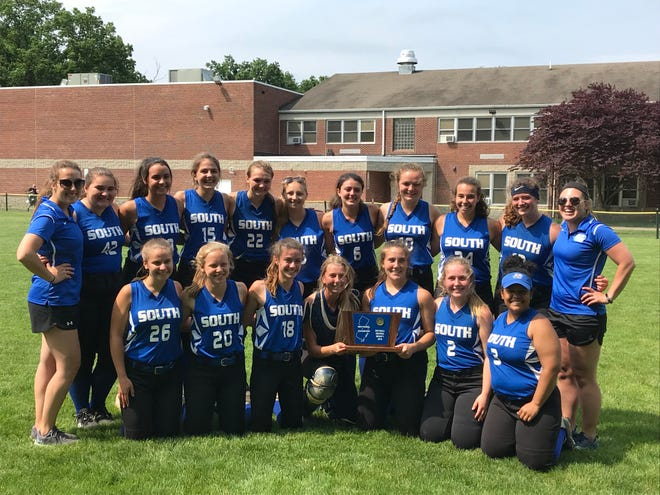 The South Hunterdon softball team won its first Central Group I sectional title with a 4-2 victory over Dunellen on Wednesday, May 29, 2019.
